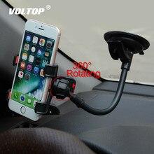 Universele Auto Houder Mobiele Telefoon Houder voor Auto Iphone 7 6s Plus SE Stand Ondersteuning voor Samsung Flexibele Mobiele telefoon Houder