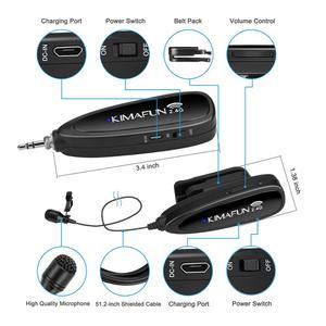 Image 3 - Kimafun 2.4 グラムワイヤレスミニマイクラベリアラペルマイクマイクシステム自動ペアリングタイクリップマイクスタジオ録音、ボーカルボイスオーバー、 youtube