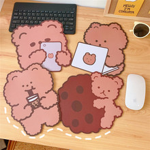 18*19cm Anti-Slip Mat Mouse Pad For Laptop Pc Waterproof Mice Mat Cute Insulated Cup Mat Lovely kawaii Table Mats