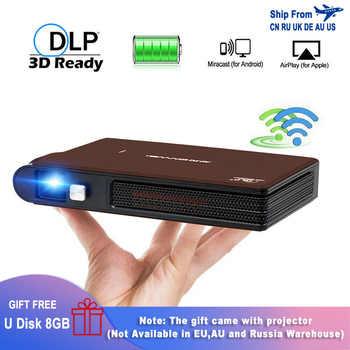 Caiwei S6W Mini proyector portátil de bolsillo 3D DLP LED Cine en Casa soporte HD Video WIFI móvil Beamer para proyectores de Smartphone