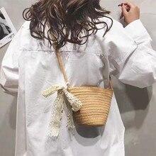 Women's Shoulder Crossbody Straw Woven Designer Bag Leather With Short Handles Fashion Brand Beach Handbag Vintage Summer 2021