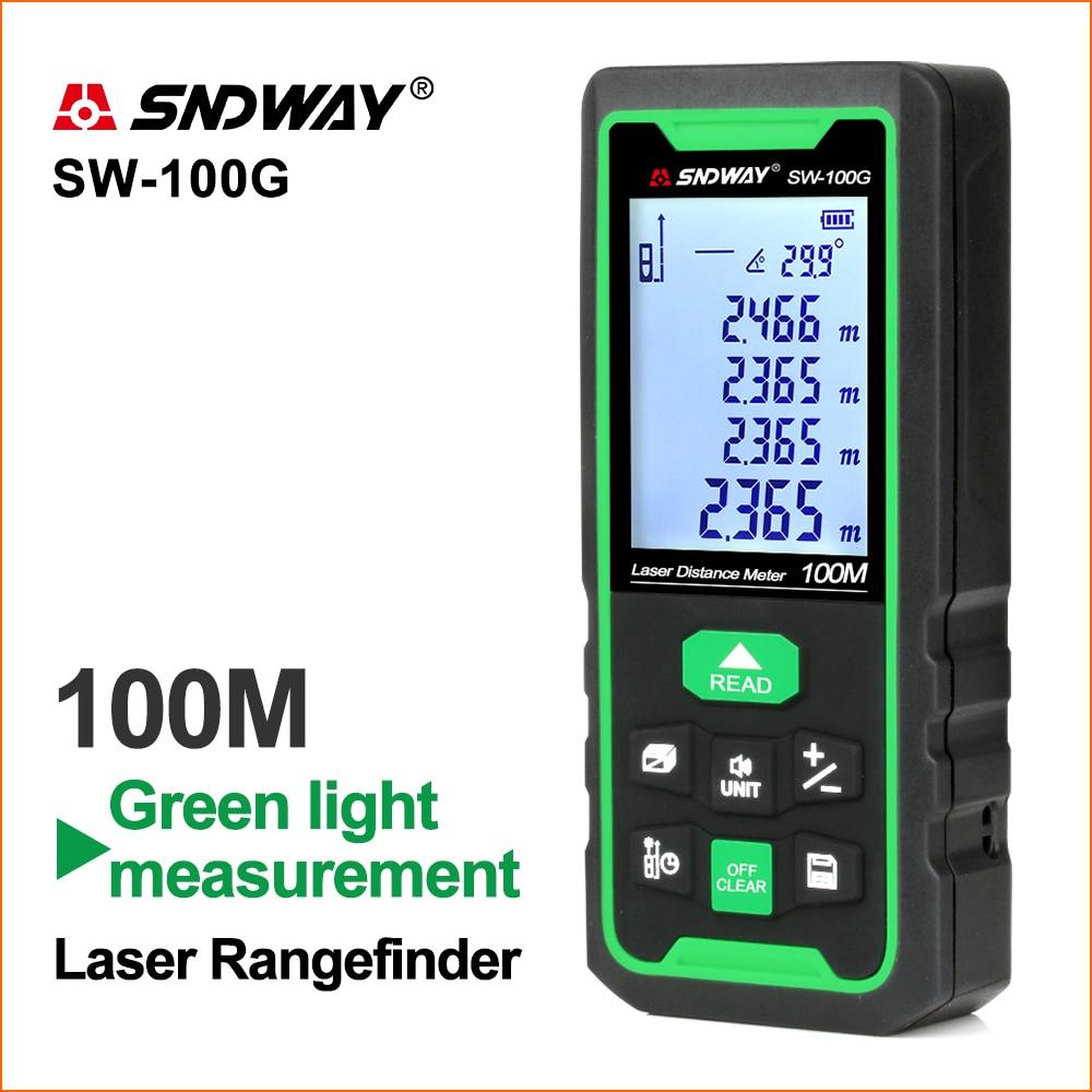 SNDWAY Laser Rangefinder Green Lines Distance Rangefinder Digital Range finder Laser Tape Distance Ruler Sensor Distance Meter
