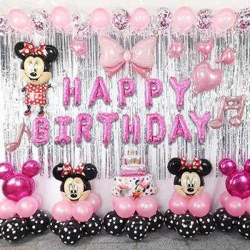 Birthday party decorations kids Mickey Minnie Children's Happy Birthday Letters Package Aluminum Film Balloons Decoration