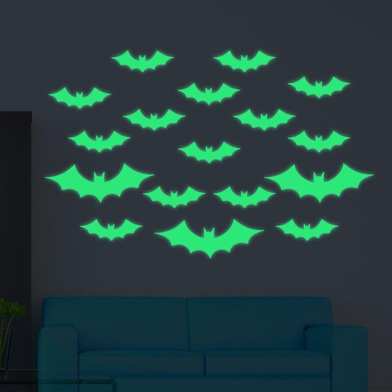 Купить наклейки на стену хэллоуин один предмет светящаяся наклейка