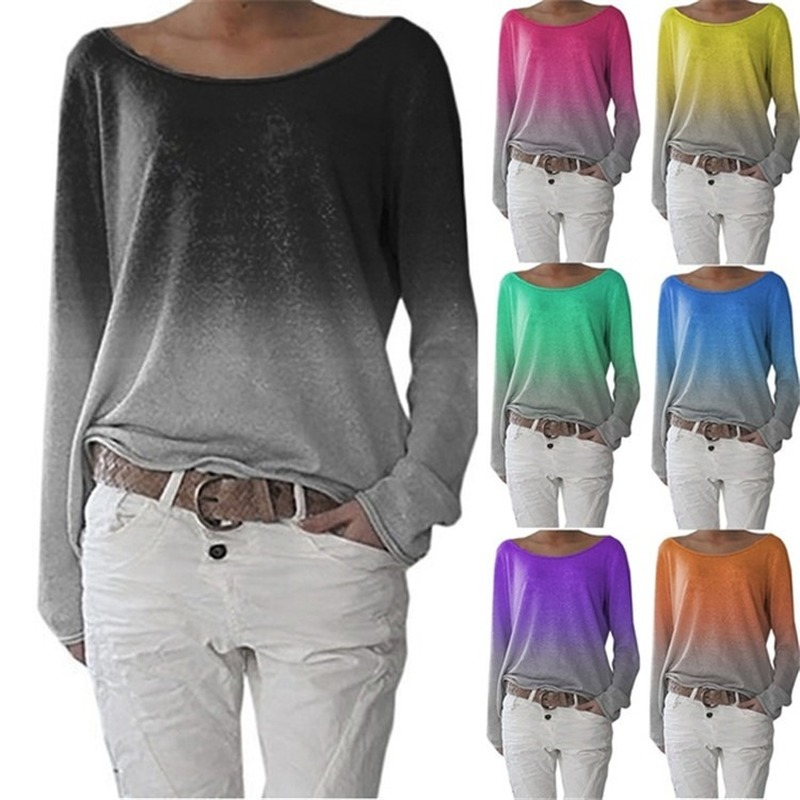 Loose Ladies Long Sleeve Blouse Tops Shirt Candy Color Tops Women Clothing Blouse Fashion Summer 2019 Women Tops