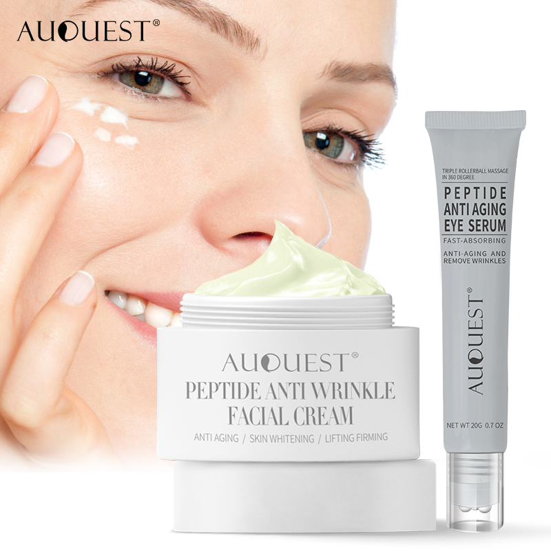 AuQuest Anti-wrinkle Peptide Cream Natural Young Skin Lifting Product Eye Essential Cream Day & Night Cream For Face Care