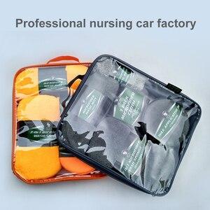 Image 5 - Kit de limpieza para coche, suministros de microfibra, toalla, detalle, cepillo de rueda de coche, esponja para encerar, combinación de herramientas de limpieza de coche