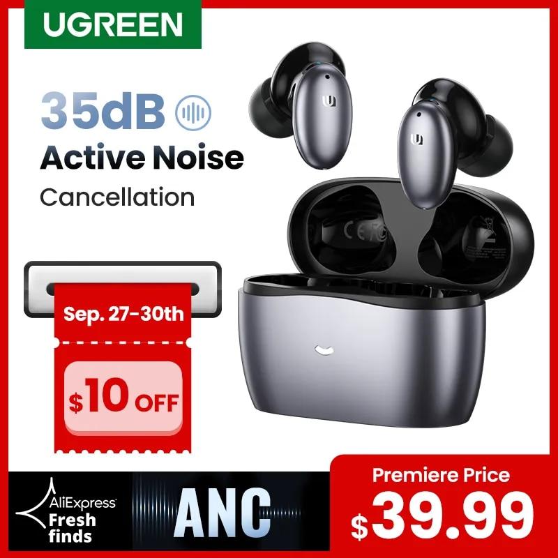 ?Premiere $39.99?UGREEN HiTune X6 Wireless Headphones Bluetooth Earphones TWS Earbuds ANC 35dB Hybrid Active Noise Cancellation