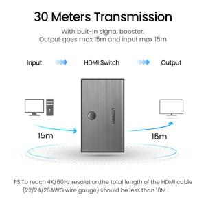 Image 2 - Ugreen HDMI 2.0 HDMI anahtarı 3 port 4K 60Hz 3X1 için Mi kutusu PS4 Nintendo anahtarı PC 3 1 dışarı 3 port HDMI Switcher Splitter