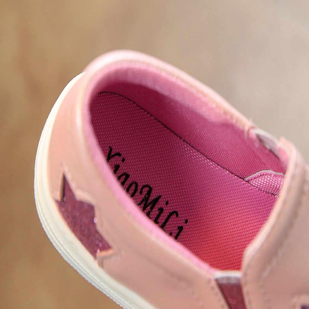 Cao Cấp Bé Gái Đế Bằng Trẻ Em Bạc Hồng Trẻ Em Giày Tập Đi Bé Gái Giày Thời Trang Mùa Hè Huấn Luyện Viên Lớn Trẻ Em Giày Bé Gái Trampki