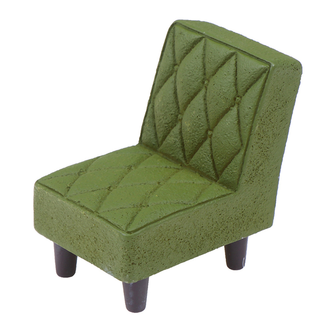 New Arrive Simulation Small Sofa Stool Chair Furniture Model Toys for Doll House Decoration Dollhouse Miniature Accessories 3