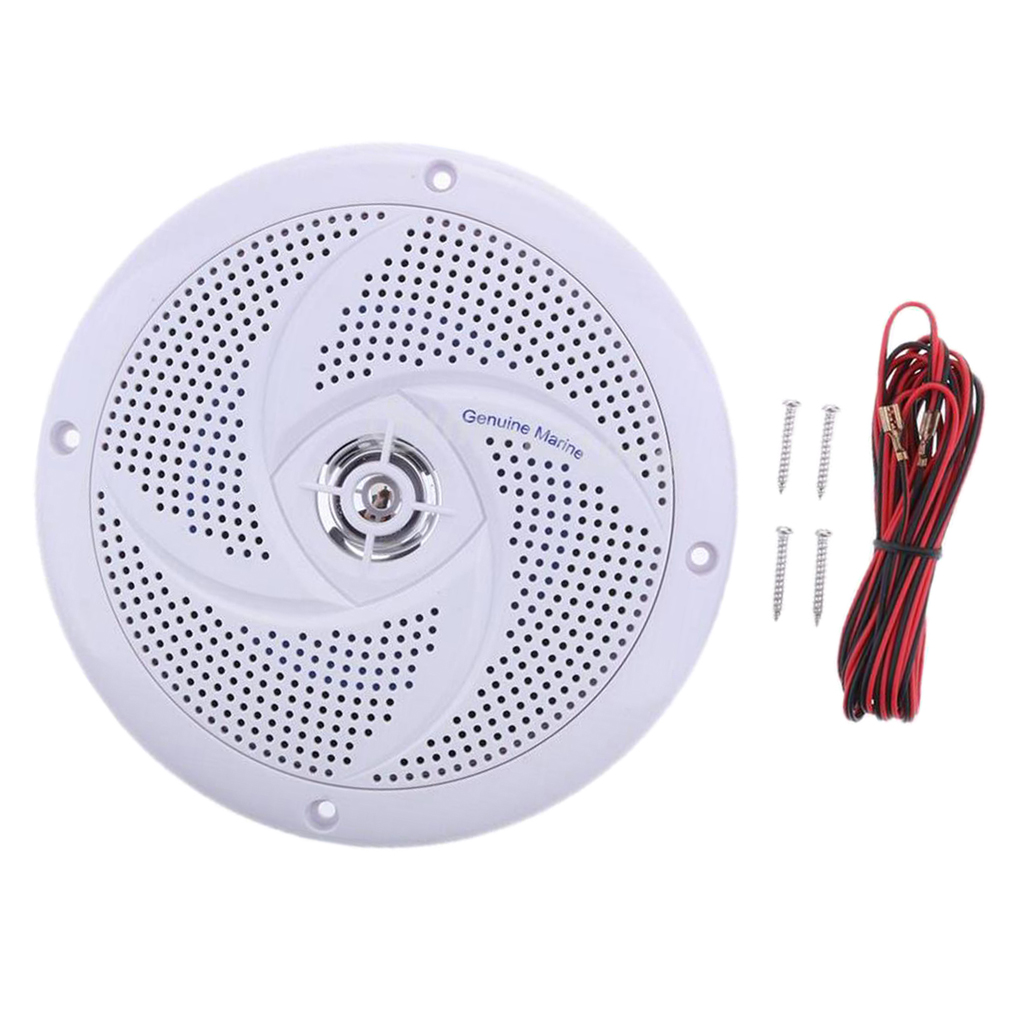 White Waterproof Round Speaker Sound System For Boat Marine Car RV