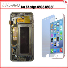 New Display For Samsung Galaxy S7 Edge Replacement Lcd Screen Digitizer Assembly For Samsung S7 Edge Frame Lcd G935 G935F LCD