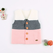 Cute Hat Kids Knitted Waistcoats Cotton Baby Girls Boys Sweater Vests Children Warm Vest Spring Autumn Clothings