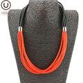 UKEBAY Neue Schwarz Und Rot Gummi Choker Halsketten Designer Handgemachten Schmuck Gothic Kleidung Zubehör Geschenk Frauen Halskette Halsband