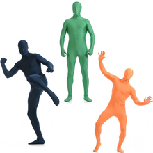 2017 Adult Full Body Spandex Lycra Zentai Suit Green Tight Suits Pure Color Halloween Party Unitard