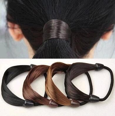 1pcs Synthetic Hair Ponytail Holders Plaits Stretch Rubber Band Braid Hair Ring Rope Hair Styling Accessories Free Shipping