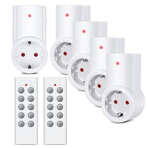 Wireless Smart Remote Control Power Outlet Light Switch Plug Socket Power Outlet Socket EU Standard Plug with Remote Control