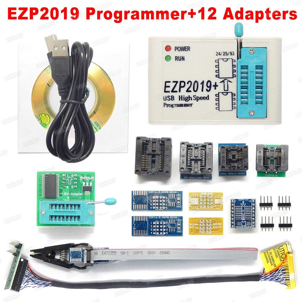 Preço de fábrica! Mais recente versão ezp2019 alta velocidade usb spi programador support24 25 93 eeprom 25 flash bios chip + 5 soquete