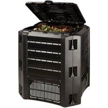 Compostador orgánico jardín o cocina. Armario contenedor compost. Compostaje ecológico. 320 litros. Color negro. Haz tu propio