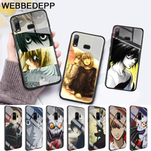 Death Note Glass Case for Samsung S7 Edge S8 S9 S10 Plus A10 A20 A30 A40 A50 A60 A70 8 9 10