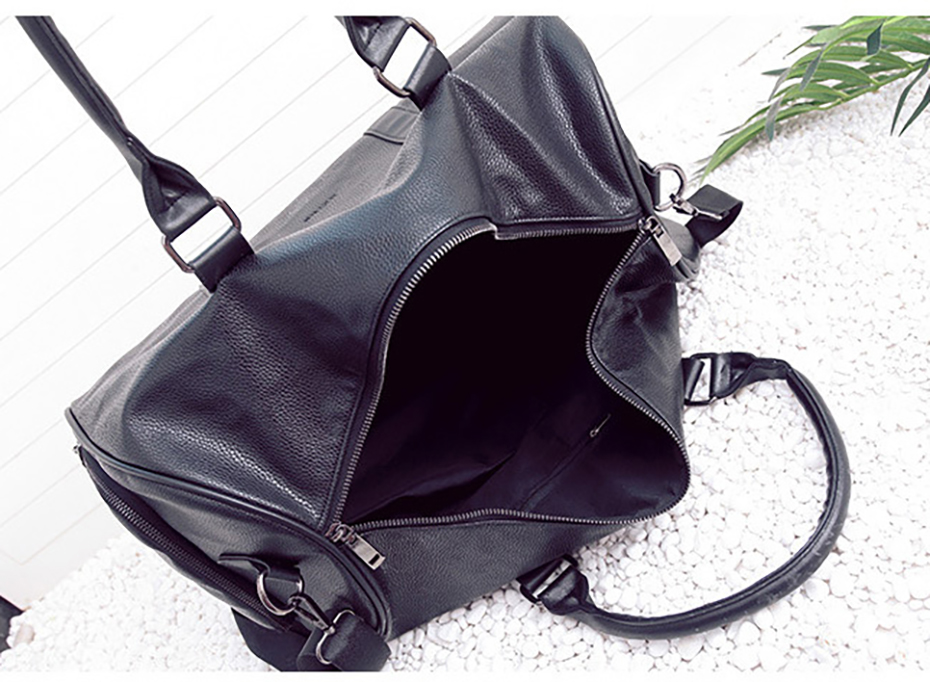 Men's Leather Sports Training Bag Durable Gym Bags For Men Women Fitness Military Training Handbag Leather Travel Luggage Tote15