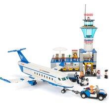 GUDI City International Airport Aviation Aircraft VIP Building Blocks Sets kits Bricks Model Kids Toys Creator Compatible