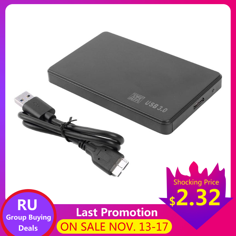 <font><b>2.5</b></font> inch <font><b>Sata</b></font> to <font><b>USB</b></font> 3.0 2.0 Adapter HDD SSD Box 5 6Gbps Support 2TB <font><b>External</b></font> Hard Drive Enclosure HDD Disk <font><b>Case</b></font> For WIndows Mac image