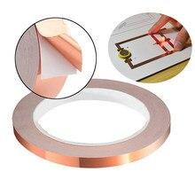 Bande adhésive en cuivre conducteur Double face de 20 mètres, bande adhésive de protection EMI résistante à la chaleur, Circuits de réparation électriques