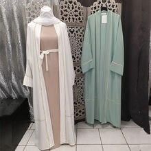 Robe Hijab musulmane Eid Mubarak pour femmes, Abaya ouverte, dubaï, turquie, arabie saoudite, vêtements islamiques, Caftan Marocain