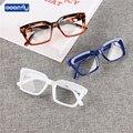 Seemfly Большая квадратная оправа Очки для чтения классический модный стиль пресбиопические очки для мужчин и женщин с диоптрией + 1,0to + 4,0