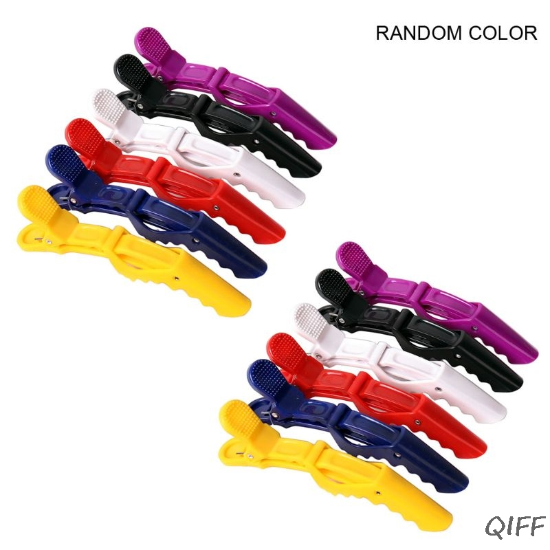 12pcs Hairdressing Tools Hair Clips Alligator Hairpins Salon Clamps