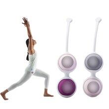 Medical vaginal dumbbell kegel exercises For Women Silicone Koro Kegel Ball Waterproof 4 Bead muscle fitness Shrinking ball