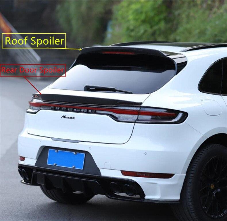 Carbon Fiber Spoiler Für Porsche Macan 2018 2019 2020 2021 Hohe Qualität Flügel Lip Dach Hinten Tür Spoiler