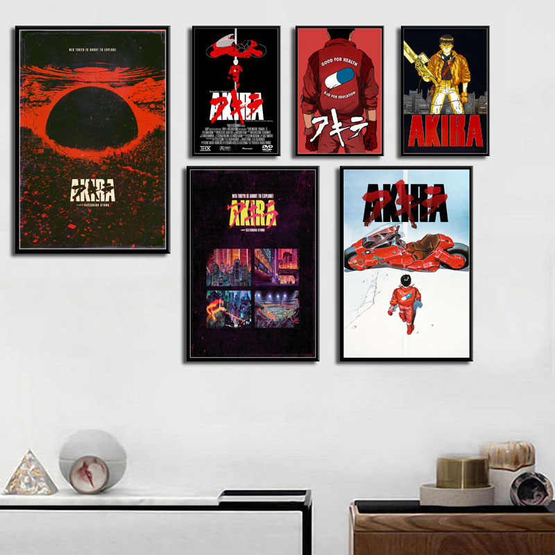 Akira Classic Japan Anime Film Art Schilderen Zijde Canvas Poster Muur Home Decor Картины На Стену
