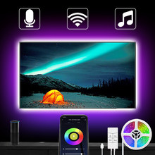 USB Alexa Led Strip Lights Smart WiFi Color Changing Music Sync App Control 5050 RGB