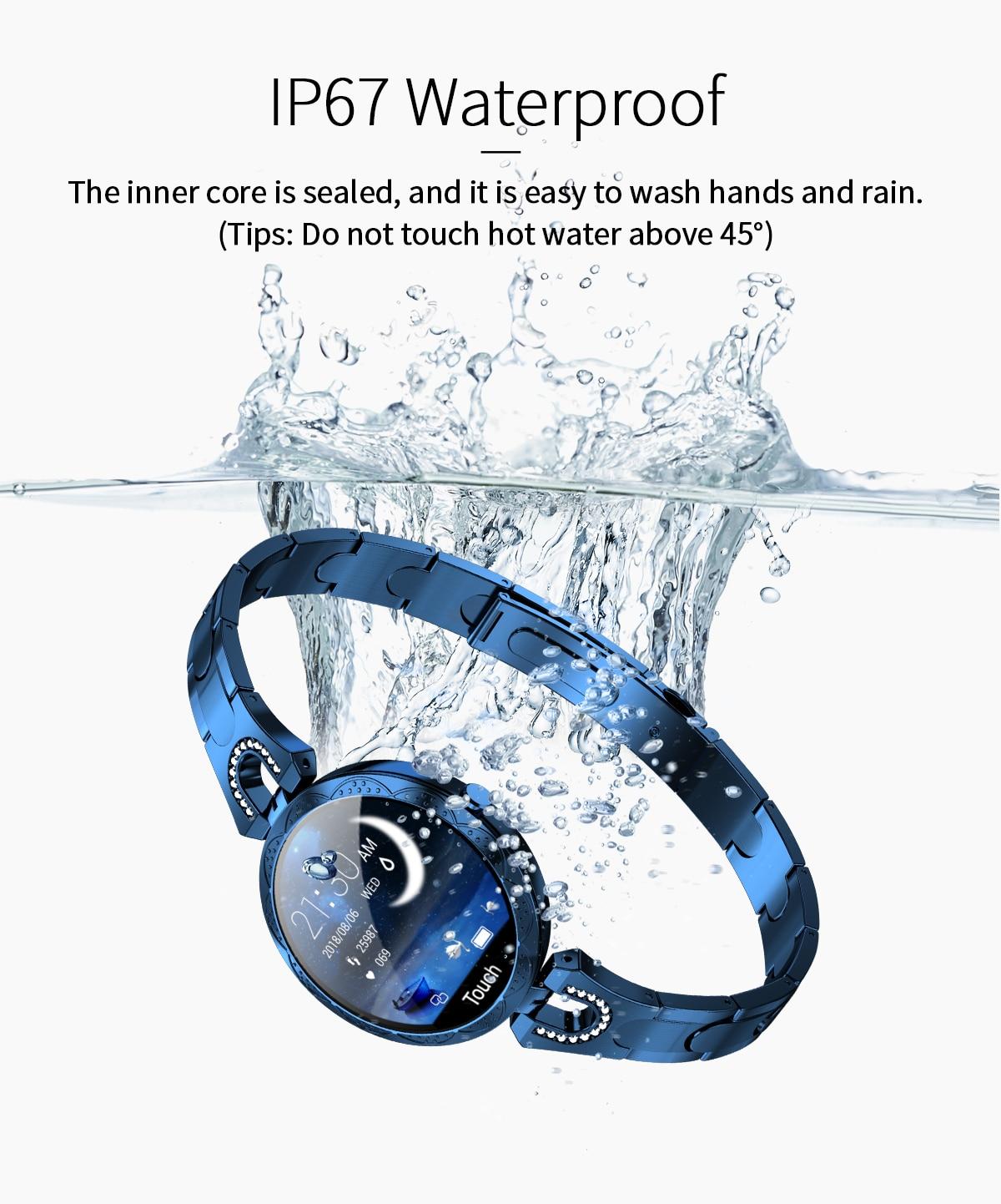 Hb86df4dada4548f198bea26e262ce5cad COBRAFLY AK15 Smart Watch Women Bracelet Heart Rate Monitoring IP67 Waterproof Fitness Tracker Ladies Watches for Xiaomi Iphone