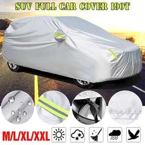 Case Cover Snow-Protection SUV Universal Waterproof Outdoor Full Sun-Rain Anti-Dust Silver