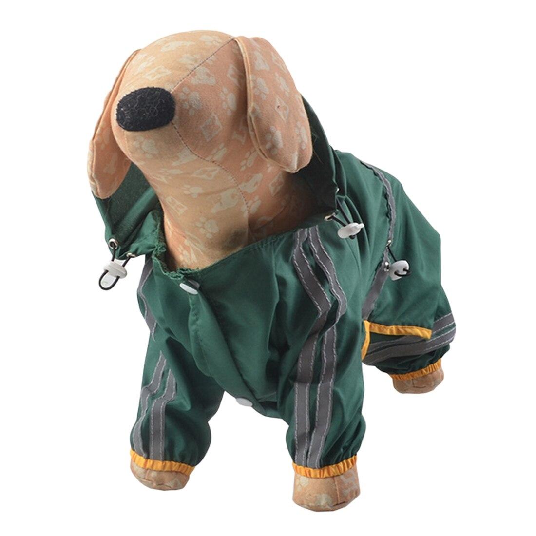 Puppy Pet Dog Cool Raincoat Glisten Bar Waterproof Rain Lovely Jackets Coat Apparel Clothes Pet Supplies