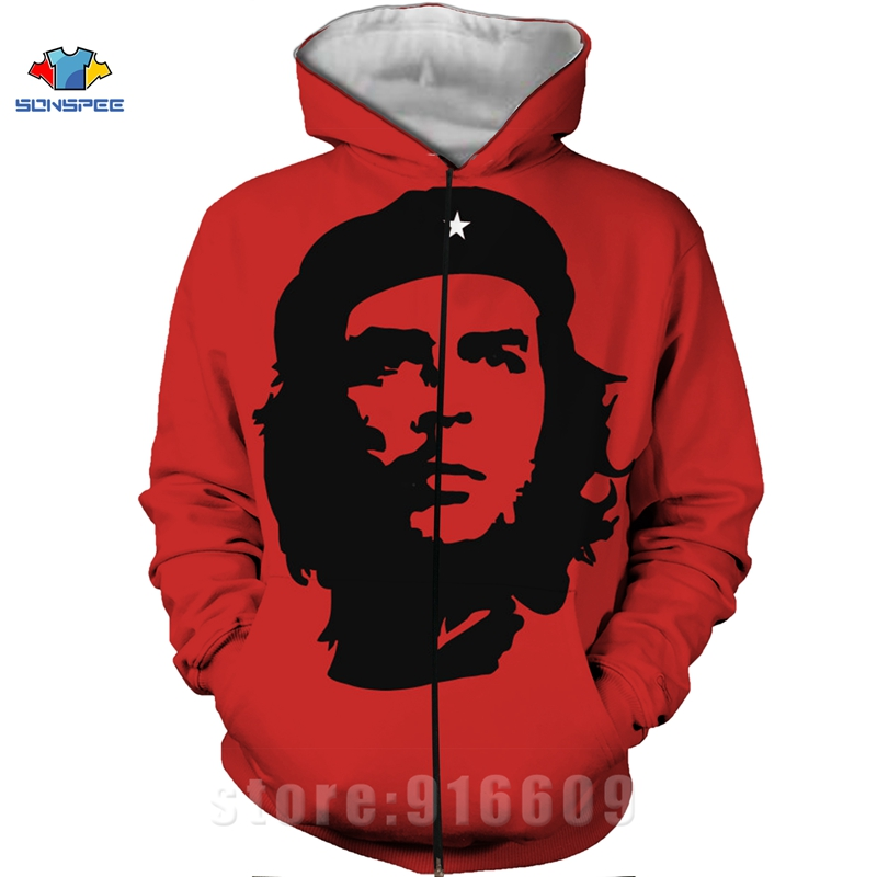 Winter Coat 3D Print Che Guevara Jacket Men Sweatshirts Women Fashion Hoodies Mens Pocket Sweatshirt Harajuku Hoodie Pullovers (5)