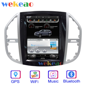 Image 2 - Wekeao Vertical Screen Tesla Style 12.1 Android 9.0 Car Dvd Multimedia Player For Mercedes Benz Vito Car DVD Player 4G 2016+