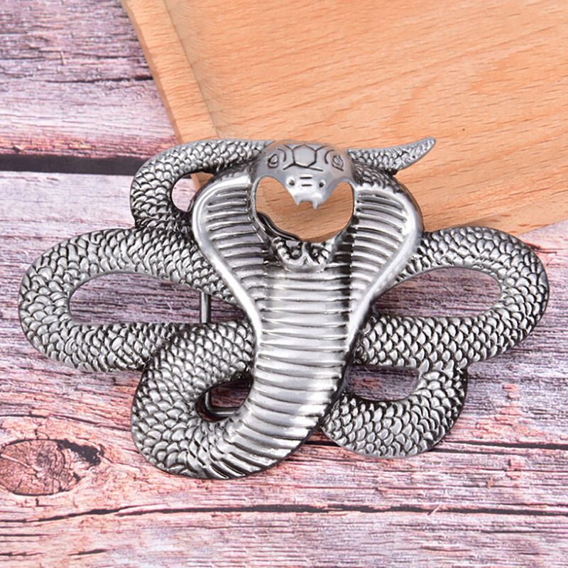 Fashion Cowboy Retro  Snake Belt Buckle Denim Styling Metal Belt Buckle Men Jean's Accessories