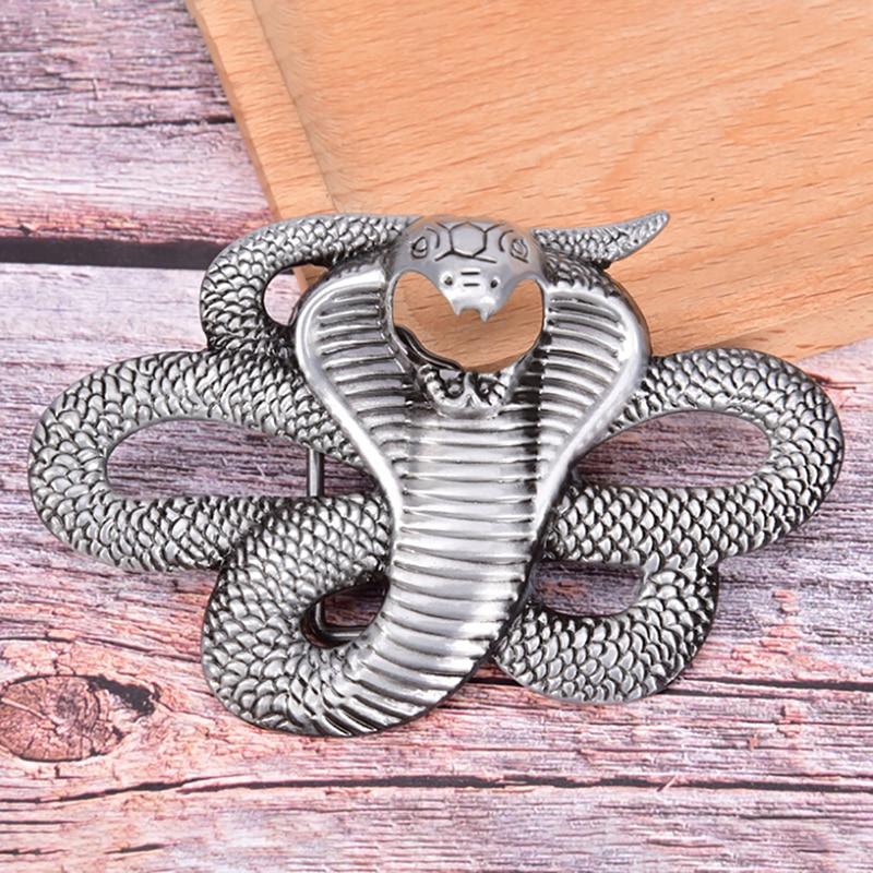 Fashion Cowboy Retro  Snake Belt Buckle Denim Styling Metal Belt Buckle Men Jean's Accessories