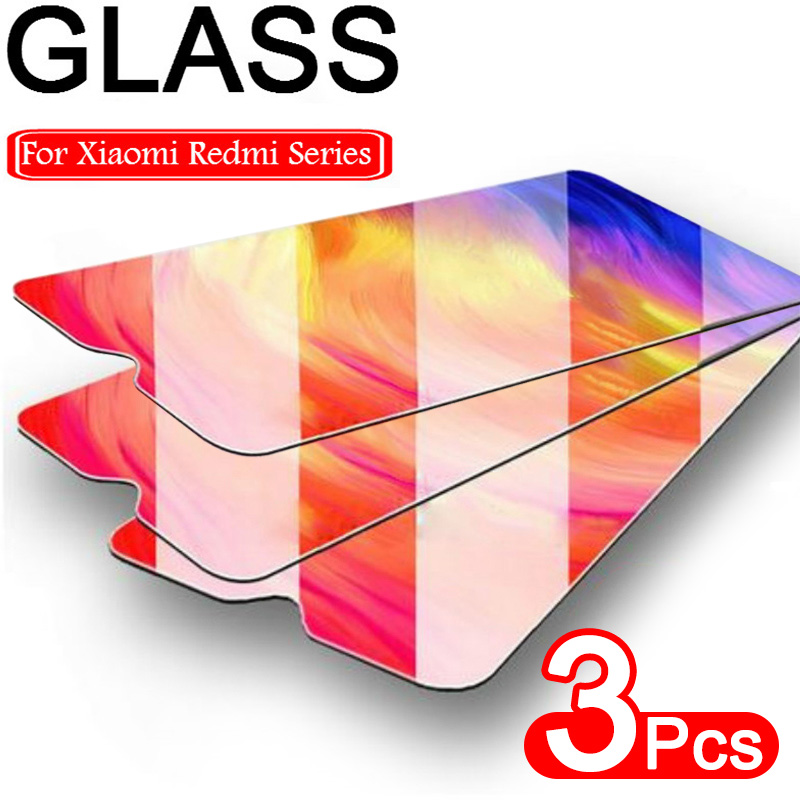 3PCS Full Cover Tempered Glass On For Xiaomi Redmi Note 7 6 8 Pro Protective Screen Protector For Redmi 7 8 K20 Pro Glass Film(China)