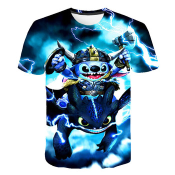 The new summer children's clothing rampage of the  stich; into cute casual top t-shirts funny t-shirts body on the rampage