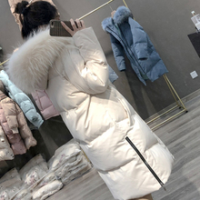 Large Real Fur Collar Women Winter Coat Thick Warm Hooded Down Jacket