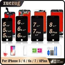 Браслет для женщин класса AAA для iPhone 5 5s 6, 6s, 7, 8 plus, ЖК-дисплей, сенсорный экран, дигитайзер, для сборки, запасные части для iPhone 6Plus 6s Plus
