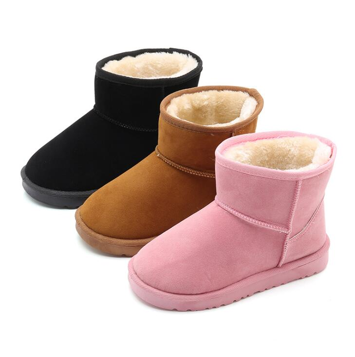Fashion Children Casual Boots Baby Boys Girls Snow Boots Kids Running Sneakers Brand Sport Shoes Child Warm Fur Boot