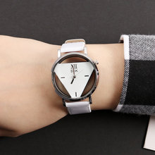 Watch Women Wrist Quartz Modern NEW Luxury Fashion Hollowed-out Triangular Dial Casual Gift For Female Watches Reloj Mujer A3 hot couple lover s watches unique hollowed out triangular dial fashion watch women men fashion dress watch relogio masculino