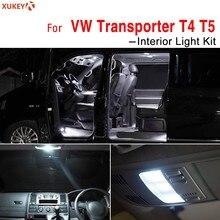 4 Uds blanco luz LED Interior Bienvenido lectura adorno de lámpara bombillas para VW transporte T4 T5 T5.1 Canbus coche iluminación Kit de actualización
